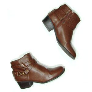 Unisa Faux Leather Ankle Boots